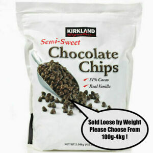 Kirkland Signature Semi-Sweet Chocolate Chips 51% Cacao 100g-4kg Sold by Weight!