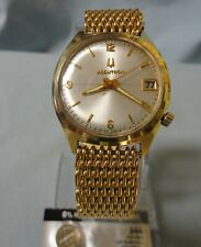 Running Bulova Accutron  Tuning Fork Watch  10K RGP, Gold Electroplate Bezel