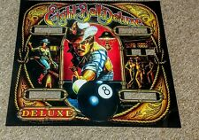 Bally EIGHT BALL DELUXE  pinball machine backglass translite replacement