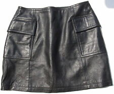 Unifarbene Miniröcke aus Leder für Mini