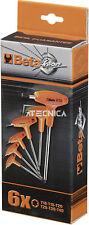 Serie 6 chiavi Torx Beta Tools 97TTX/S6  maschio piegate cromate