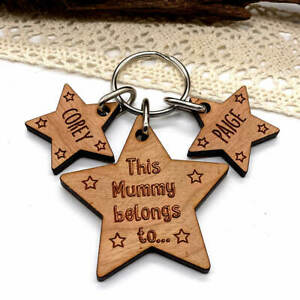 Personalised Gifts for him Keyring Mummy Belongs To Mothers Day, Birthday gift
