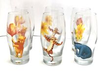 Vintage Disney Winnie The Pooh And Friends Libbey Drinking Glasses Set Of 6