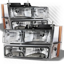 For 88-93 GMC/Chevy C/K Truck Headlights + Bumper And Corner Lights Completed
