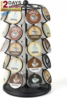 NEW 35 K-Cup Holder Coffee Pod Carousel Black Single Serve Countertop Display