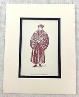 1889 Antico Stampa Merry Wives Di Windsor Personaggio Costume Sir Hugh Evans