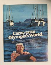 1978 Olympia Beer Can Vintage Print Ad Original Pacific Northwest Washington Wa