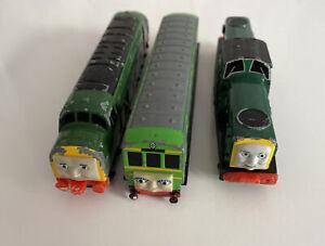 thomas the tank engine ertl train set derek the diesel and daisy