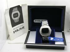 VINTAGE L.E.D. PULSAR P2 MENS STAINLESS STEEL HAMILTON WATCH W/ BOX & PAPERS