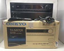 ONKYO TX-NR709 7.2 Channel 110 Watt Receiver With Remote & Power In Original Box