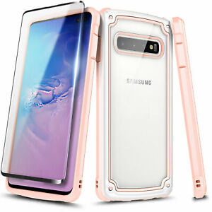 For Samsung Galaxy S10e S10 Plus S10 5G Case Full Body Cover + Screen Protector