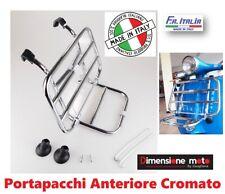 9169 - Portapacchi Anteriore con Ribaltina CROMATO per PIAGGIO Vespa 150 Sprint