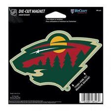 NHL 4 inch Auto Magnet Minnesota Wild Current Logo