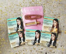 5x~Invisibobble WAVER~No Metal, No Traces in Clear & You Glow Girl Clip Duo~NIP~