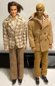 2 Vintage 1968 Mattel Hong Kong KEN DOLL Lot 1088-0500 6 Blonde Hair & Mod Hair