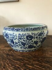 Delightful heavy Blue & White Chinese bowl - Diameter - 26cm - Perfect!
