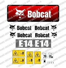 BOBCAT E14 2014 MINI DIGGER EXCAVATOR DECAL STICKER SET