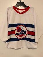 NHL Winnipeg Jets Laine Hockey Jersey Youth Size S White Vintage