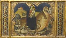 15th 16th Century Italian Renaissance Flight Into Egypt Gold Panel Painting