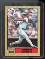 1987 Topps #261 Ruben Sierra Texas Rangers Rookie Card