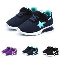 Children Kids Boys Girls Star Mesh Breathable Sport Running Sneakers Shoes