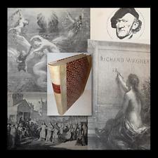 Jullien: Richard Wagner sa Vie et Oeuvres 1886 Biografia acquaforte litografie