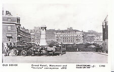 """Old Dover Postcard - Grand Hotel - Monument and """"Invicta"""" Conveyance c1912  2416"""