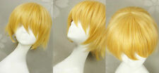 Ouran High School Host Club King,Golden Short Straight Cosplay Party Hair Wig
