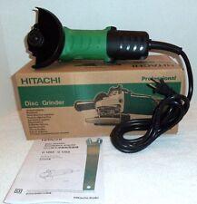 "New Hitachi 4"" Angle Disc Grinder 11,000Rpm 110V w/ Wrench Nib G10Ss"