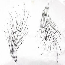 Rhinestone Iron on Transfer Hot fix Motif crystal Fashion Design line decoration