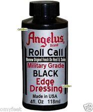 Angelus Roll Call Military Grade Edge Dressing Black Shoe Boot Sole Heel Edger