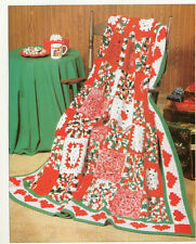 "Gorgeous Christmas Afghan Winter Blanket = Crochet Pattern- 65"" square"