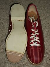 Vintage 1950s 60s Red Sealand Bowling Shoes NOS Box Size 10 New Old Stock