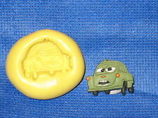 Cars Pixar Push Mold Flexible Clay Candy Food Safe Silicone #754 Chocolate Soap