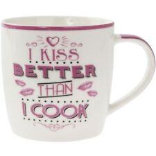 Lesser & Pavey Word Play Porcelain Mug - Kiss Better Than I Cook