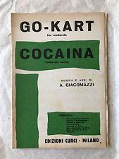 SPARTITO MUSICALE GO-KART COCAINA A. GIACOMAZZI EDIZIONI CURCI 1960