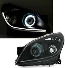 Black clear XENON D2S headlight with lightbar DRL angel eyes for OPEL ASTRA H