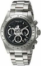 Reloj Analógico Invicta 22864 para hombre Disney De Acero Inoxidable Pulsera De Acero Y Estuche Cuarzo Dial Negro