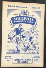 More details for millwall v queens park rangers  kent county cup 2nd round 1955/56