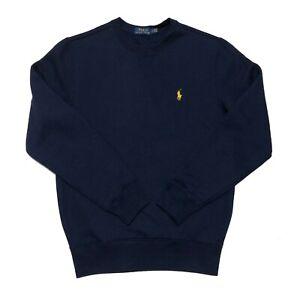 Polo Ralph Lauren Mens Jumper Crew Neck Sweatshirt Navy Fleece SP BNWT