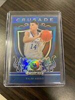 Tyler Herro 2019-20 Panini Prizm Draft Picks Crusade Blue Rookie Card #75