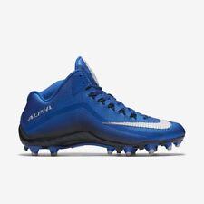 Nike Men's Alpha Pro 2 Football 3/4 Cleats Blue Sz 12 705409