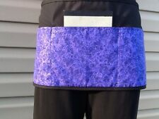 Black 3 pocket Purple Glitter waitress waist Half apron Servers restaurants Bars