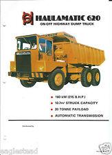 Equipment Brochure - Haulamatic - 620 - On Off Road Dump Haul Truck (E3112)