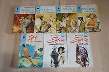 lot 3 livres séries Sylvie et Vargas- collection Marabout demoiselle