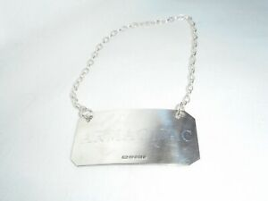 "Solid Silver (hallmarked) Decanter Label - ""Armagnac"""