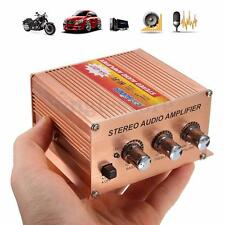 Motorcycle Car Subwoofer Mini Hi-Fi Stereo Audio Amplifier Amp 500W 2.1 Channel