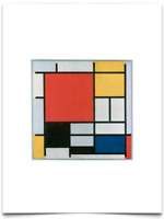 PIET MONDRIAN COMPOSITION WITH RED YELLOW BLUE BLACK LIMITED EDITION ART PRINT