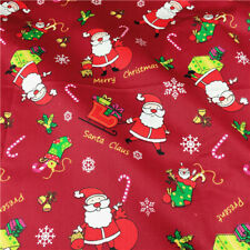 Christmas Printed 100% Cotton Fabric DIY Sewing Cloth Patchwork Handmade Doll A4
