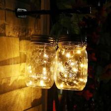 Mason Jar Solar Lid Light Up String Hanging Lantern 20 LED Powered Canning Decor